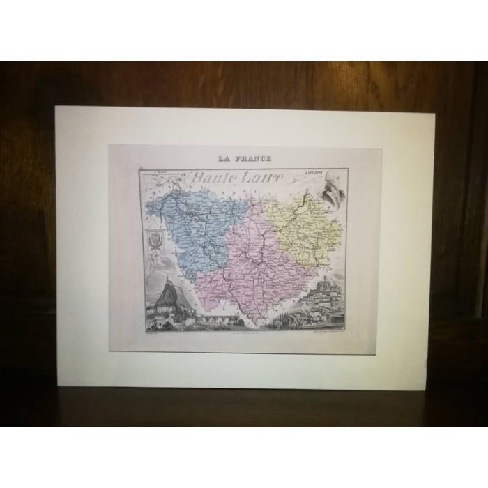 Carte ancienne Authentique de la Haute Loire