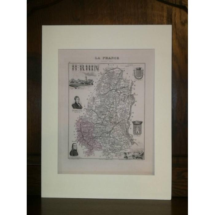 Carte ancienne Authentique du Haut-Rhin 1861