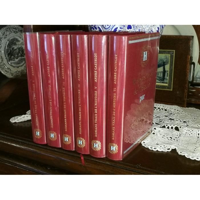 Romans vrais de l'Histoire par Castelot 6 tomes complet numérotés