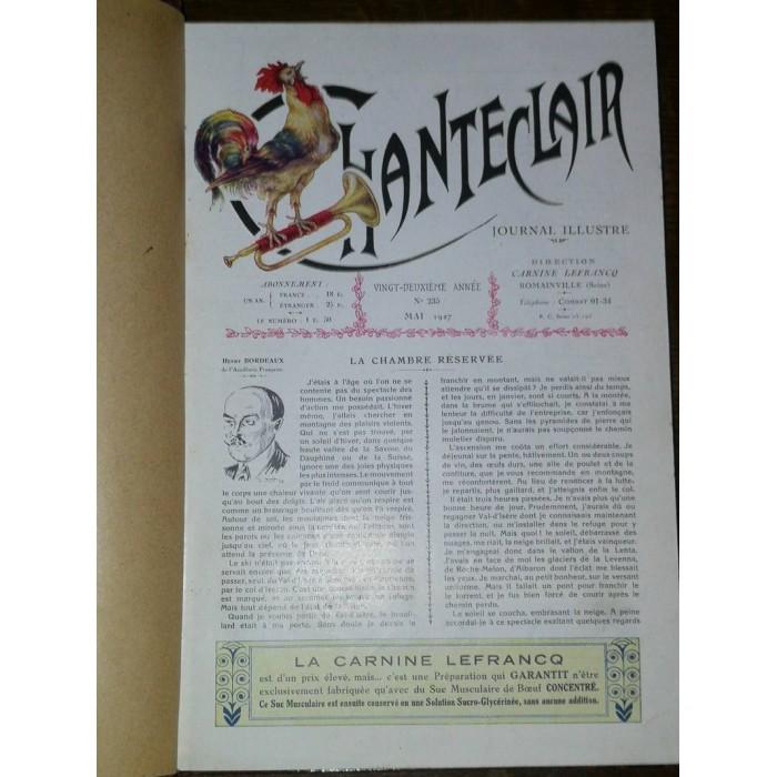 Chanteclair Journal mensuel, bimensuel et illustré par Les Laboratoires Carnine Lefrancq Journal artistique et médical