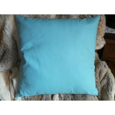 coussin avec housse uni bleu ciel 45 x 45 atypique84. Black Bedroom Furniture Sets. Home Design Ideas