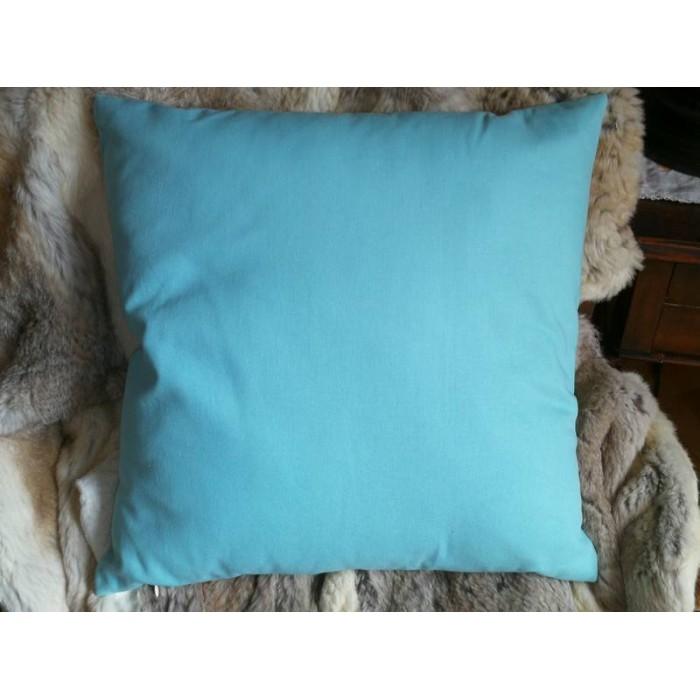 Coussin avec housse uni bleu ciel 45 x 45