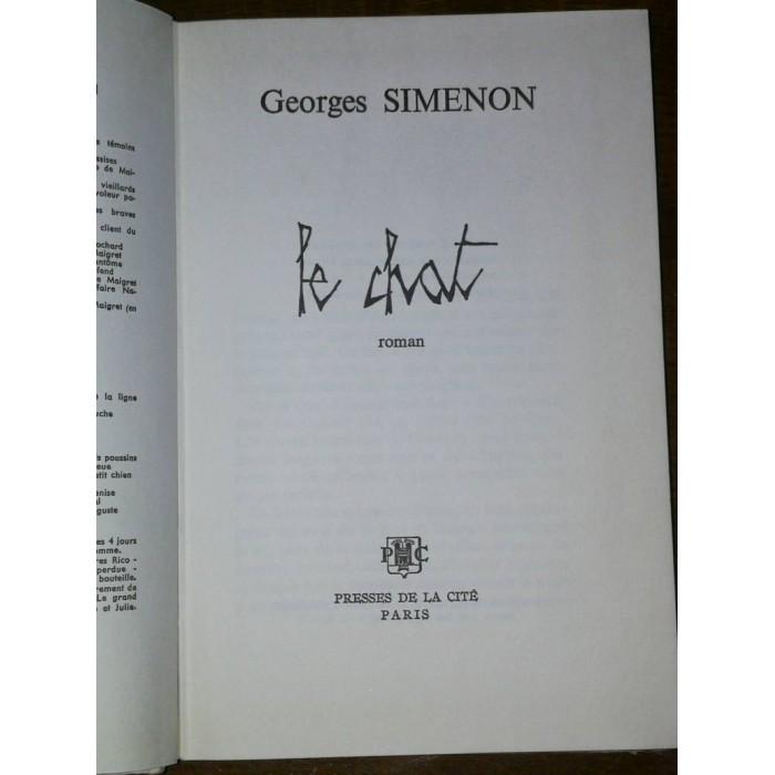 Le chat par Georges Simenon avec bandeau d'éditeur