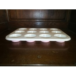 Moule à muffins rose à 12 pièces