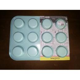 Moule à muffins vert à 12 pièces