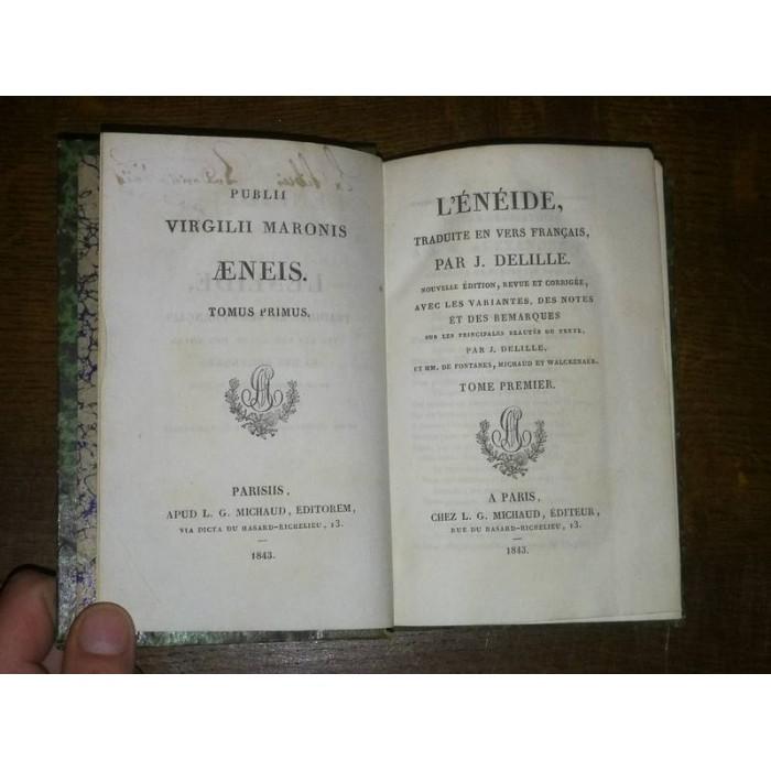 L'Enéide traduite en vers français par J. Delille 2 Tomes Complet