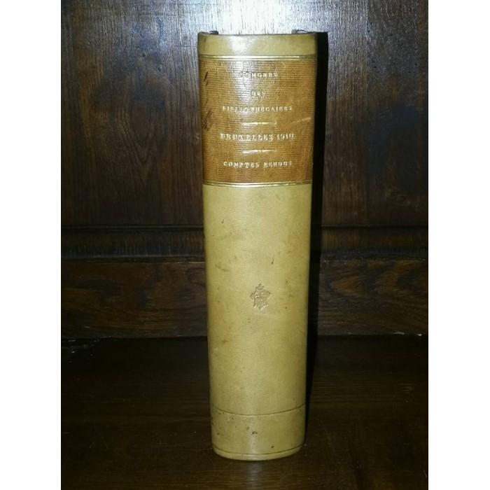 Congrès international des archivistes et des bibliothécaires Bruxelles 1910 Comptes rendus