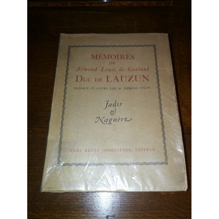 Mémoires de Armand Louis par Gontaut Duc de Lauzun