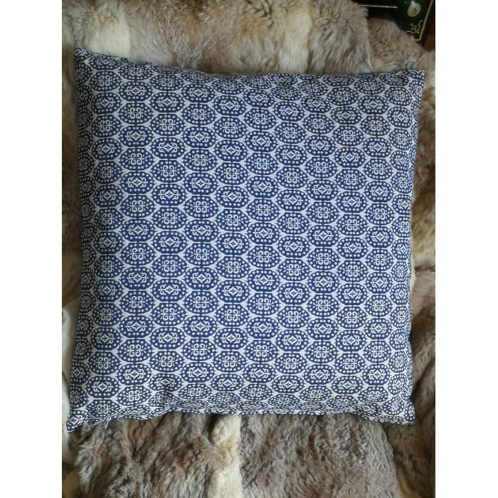 Coussin bleu à motif royal 45 x 45