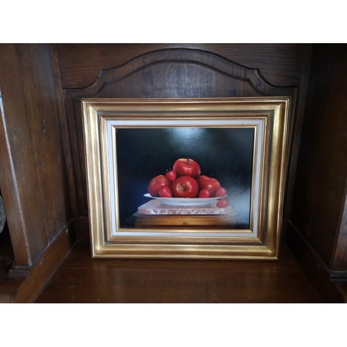 """Huile sur toile tableau peinture """"Fruits rouges"""" par philippe Destors"""