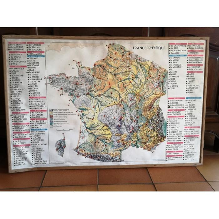 Carte de géographie de la France ancienne