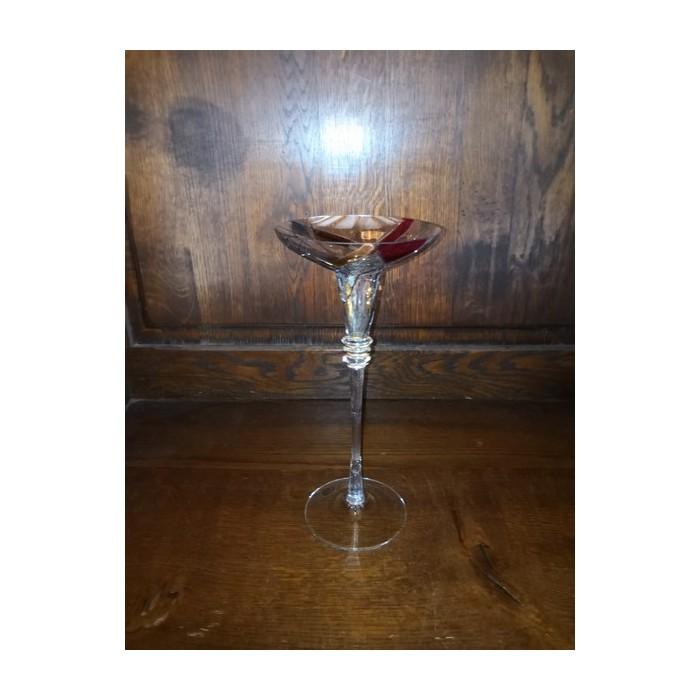 Bougeoir ou photophore en cristal décoré fait main