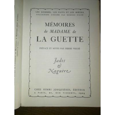 Mémoires de Madame de la Guette